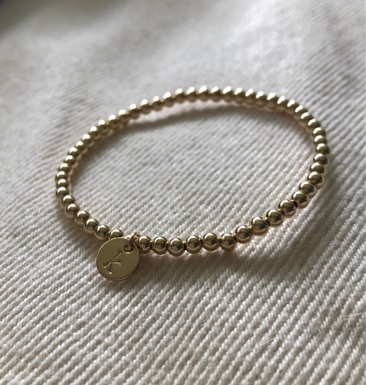 Child Initial Bead Bracelet
