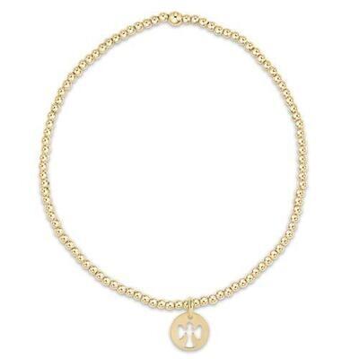 Classic Gold Guardian Angel Bead Bracelet