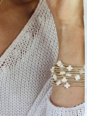 Signature Cross ADULT 2mm Bead Bracelet