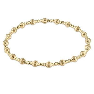 Classic Gold Sincerity 5mm Bead Bracelet