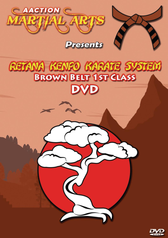 #8 1st Class Brown Belt DVD - Retana Kenpo Karate System