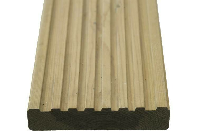 Softwood Grooved Canterbury Decking 3m