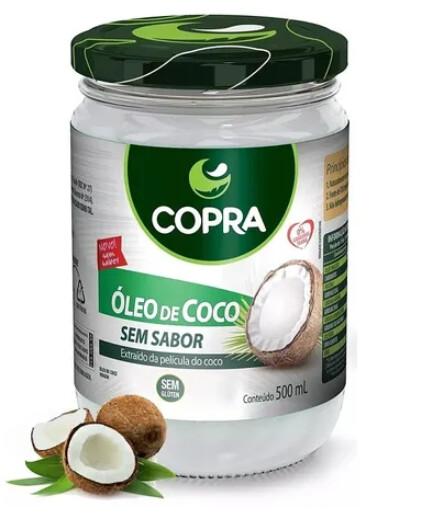 Óleo De Coco Extra Virgem Copra 500 Ml SEM SABOR