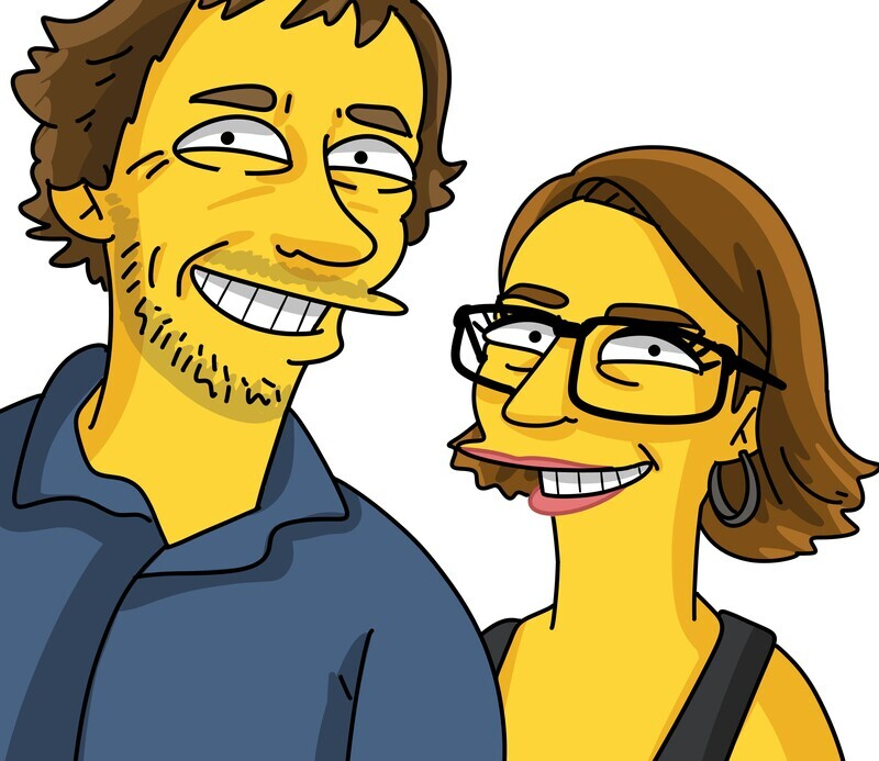 2 PERSON PORTRAIT HAND DRAWN AND EMAILED TO YOU WITHIN 10 DAYS, REVISED UNTIL YOU ARE HAPPY