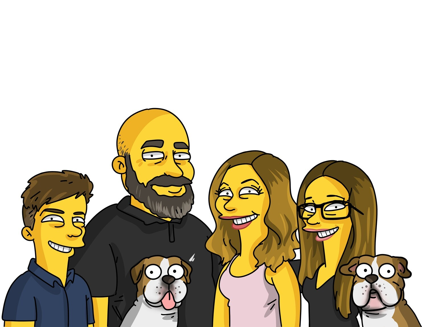 5 PERSON PORTRAIT HAND DRAWN AND EMAILED TO YOU WITHIN 10 DAYS, REVISED UNTIL YOU ARE HAPPY