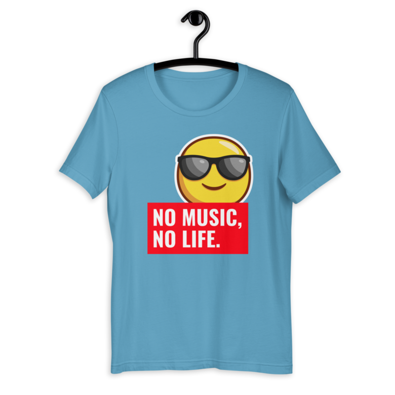 NO MUSIC NO LIFE | Short-Sleeve Unisex T-Shirt by Rafa Reactions