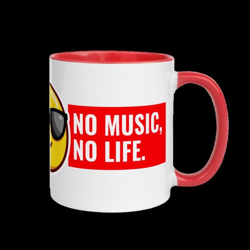 NO MUSIC NO LIFE Mug with Color Inside by Rafa Reactions