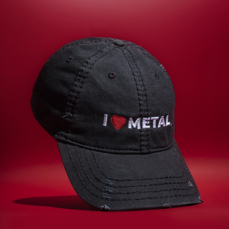 I LOVE METAL | Distressed Hat | Rafa Reactions