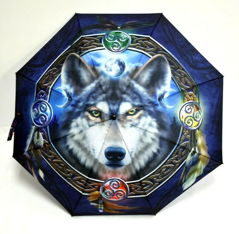 Celtic Wolf Guide Umbrella