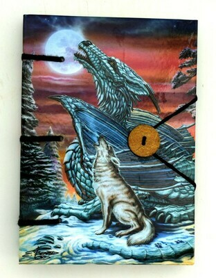 Dragon/Wolf Paper Journal