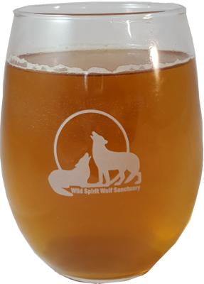 Logo Stemless Wine Glass