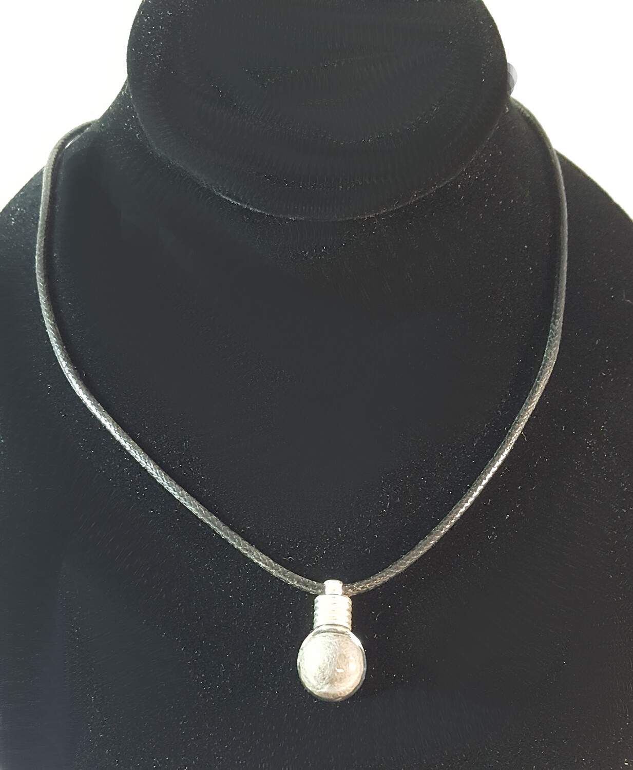 Shed Wolf Fur Bulb Necklace