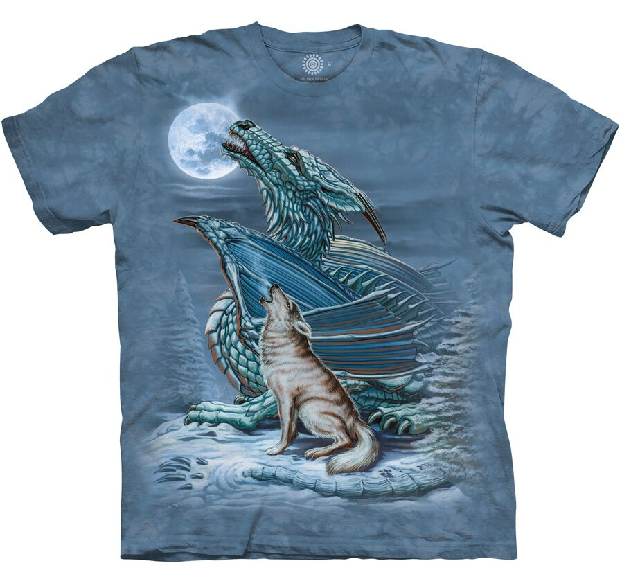 T Shirt Dragon Wolf