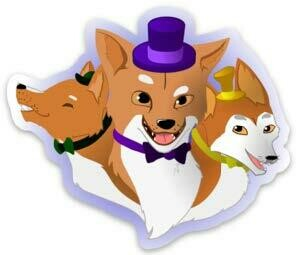Sticker New Guinea Singing Dogs