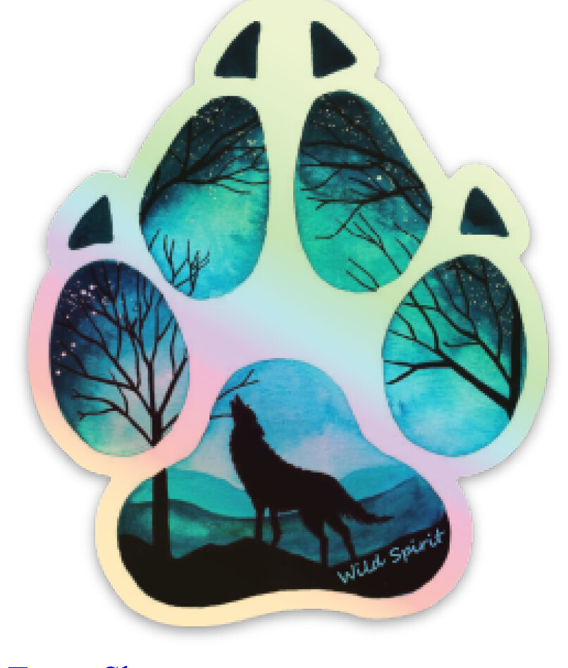 Sticker - Holographic Paw Print