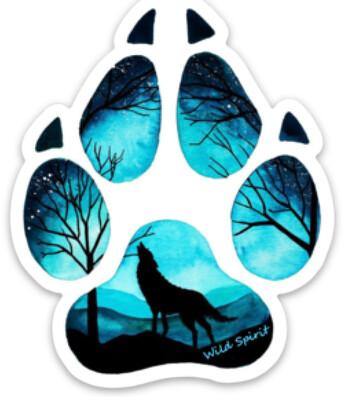 Sticker Wolf Paw