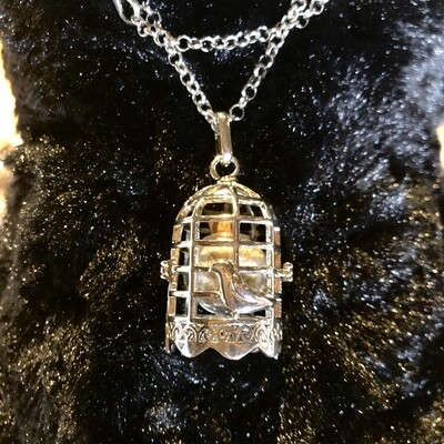 Shed Wolf Fur Pewter Charm Necklace