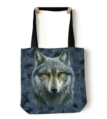 Warrior Wolf Tote Bag