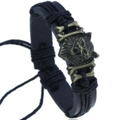 Bracelet Wolf Bone Charm
