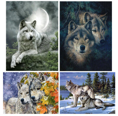 Wolf DIY Diamond Embroidery Art Kit