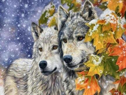 Wolf DIY Diamond Embroidery Art Kit