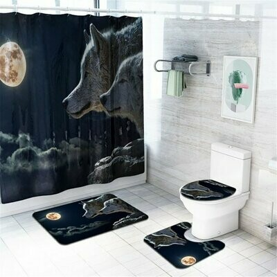 Wolf Moon Bathroom Accessory Set