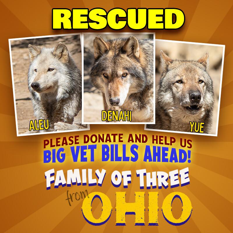 Ohio Trio Rescue Donation