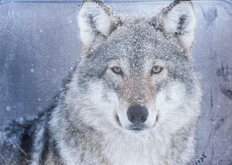 Wolf Shower Floor Mat