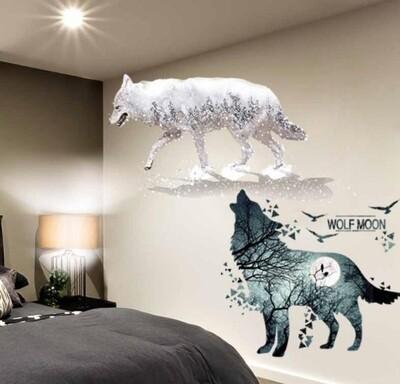 Wolf Sticker DIY Wall Mural Decor