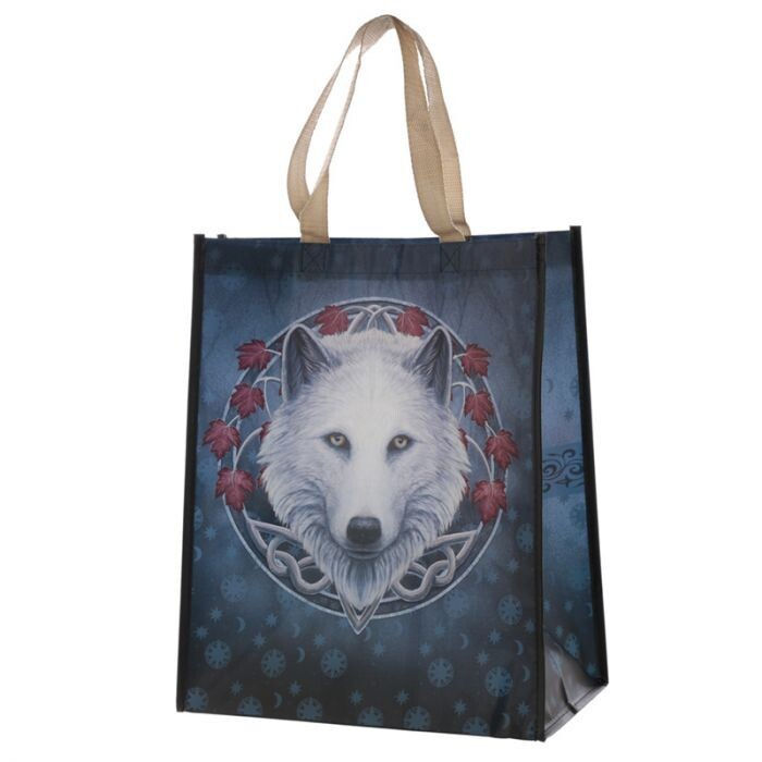 Guardian of the Fall Wolf Shopping Bag