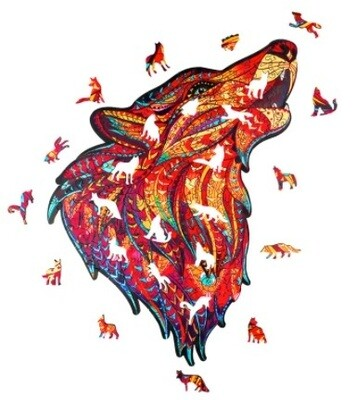 Howling Wolf Wooden Jigsaw Puzzle