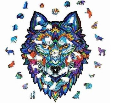 Wolf Head Wooden Jigsaw Puzzle