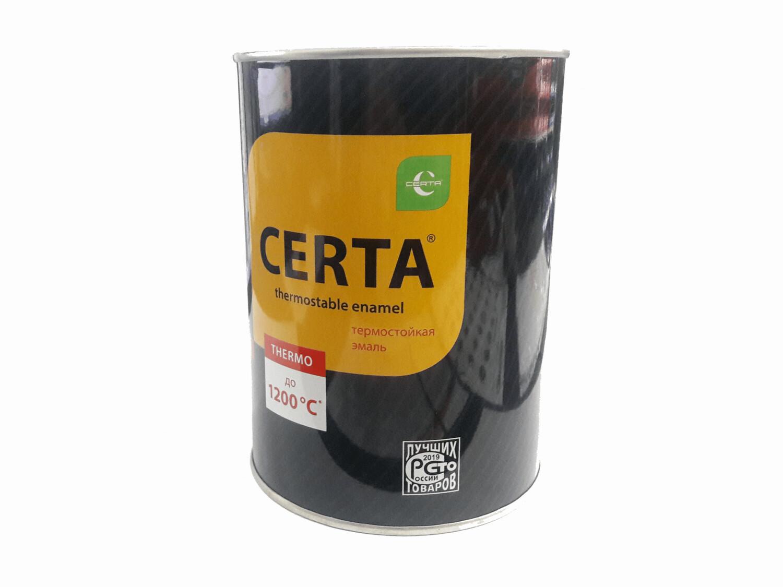 Эмаль термостойкая Церта 0,8 кг черная (700C)