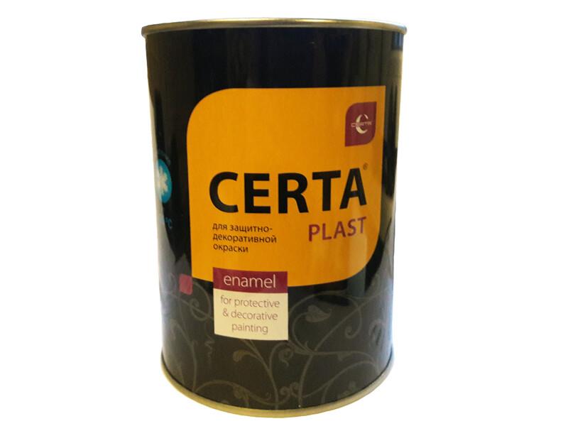 Грунт-эмаль 3 в 1 по ржавчине Церта-Пласт черная 0,8 кг