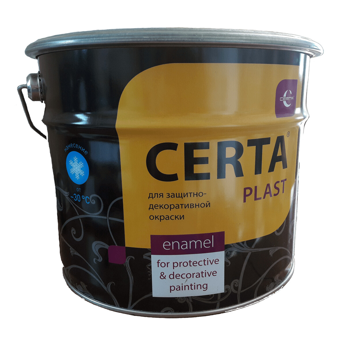 Грунт-эмаль 3 в 1 по ржавчине Церта-Пласт шоколад, 10 кг