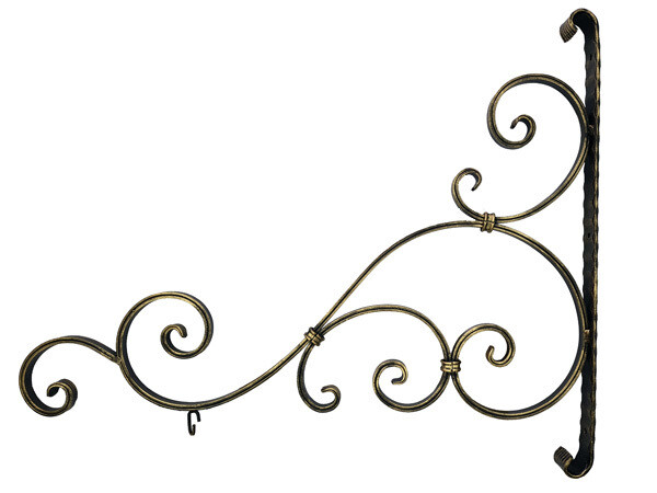 Кронштейн кованый для кашпо 760*625 мм, цвет бронза