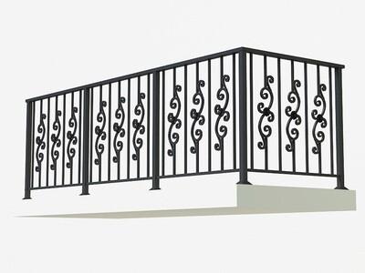 Балконное ограждение из металла арт. Г1813