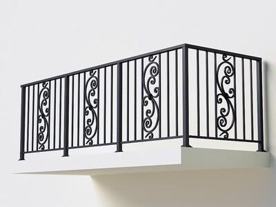 Балконное ограждение из металла арт. Г1808