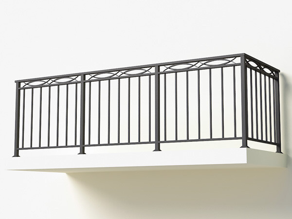 Балконное ограждение из металла арт. Г1814
