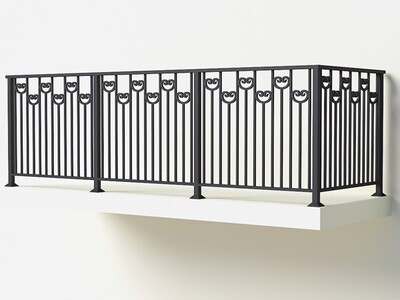 Балконное ограждение из металла арт. Г1806