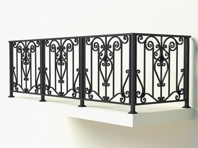 Балконное ограждение из металла арт. Г1816