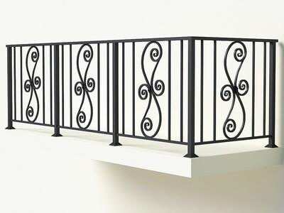Балконное ограждение из металла арт. Г1817