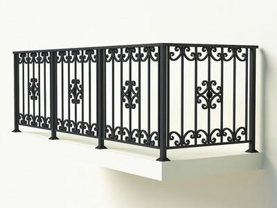 Балконное ограждение из металла арт. Г1818