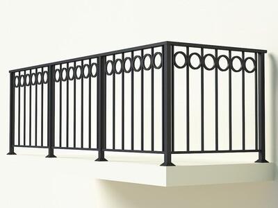 Балконное ограждение из металла арт. Г1820