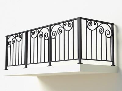 Балконное ограждение из металла арт. Г1822