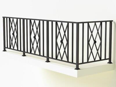 Балконное ограждение из металла арт. Г1823