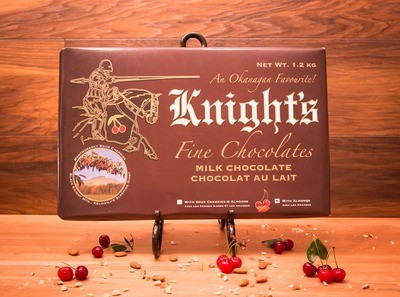 Milk Chocolate with Almonds and Cherries