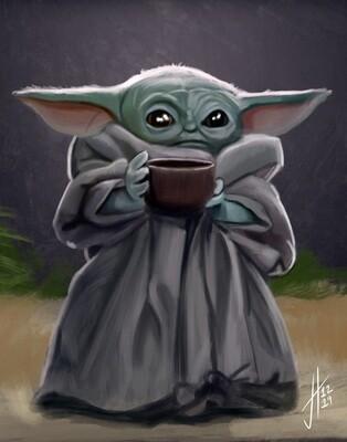 Baby Yoda The Child Mandalorian Art Print