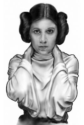 Star Wars Princess Leia Carrie Fisher Art Print