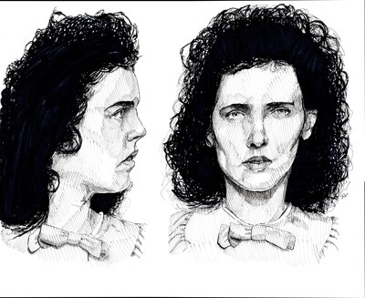 Black Dahlia Elizabeth Short Art Print